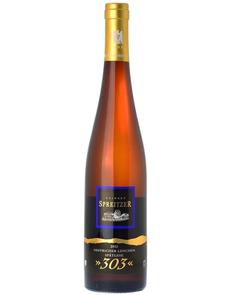 """German Wine Spreitzer Oestricher Lenchen Spätlese """"303"""" Rheingau Riesling 2013 750ml"""