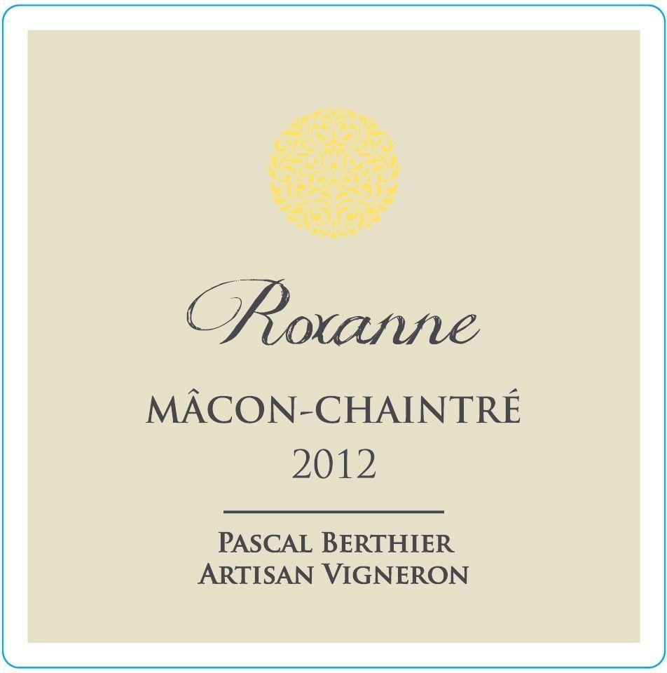 "French Wine Pascal Berthier Macon-Chaintré ""Roxanne"" 2016 750ml"