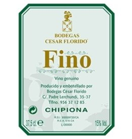 "Sherry Bodegas Cesar Florido Fino ""Chipiona"" Sherry 375ml"