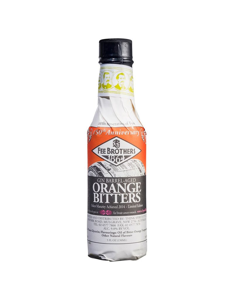 Bitter Fee Brothers Gin Barrel Aged Orange Bitters 5oz