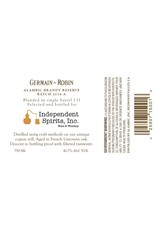 Brandy Germain-Robin Batch 2014-A Alembic Brandy Reserve Bottled Exclusively for Independent Spirits, Inc.  750ml