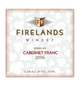 American Wine Firelands Cabernet Franc Isle St. George Ohio 2012 750ml