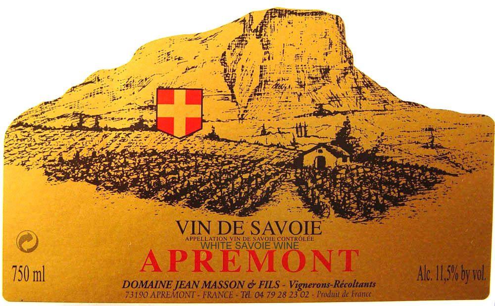 French Wine Domaine Jean Masson et Fils Apremont Vieille Vigne Traditionelle 2016 750ml