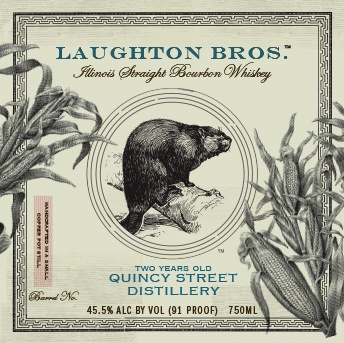 Bourbon Quincy Street Distillery Laughton Bros Straight Bourbon 2 Year 750ml