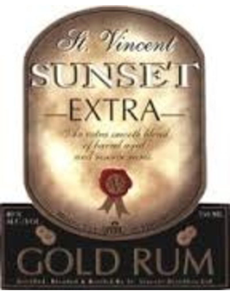 Rum St. Vincent Sunset Extra Gold Rum 750ml
