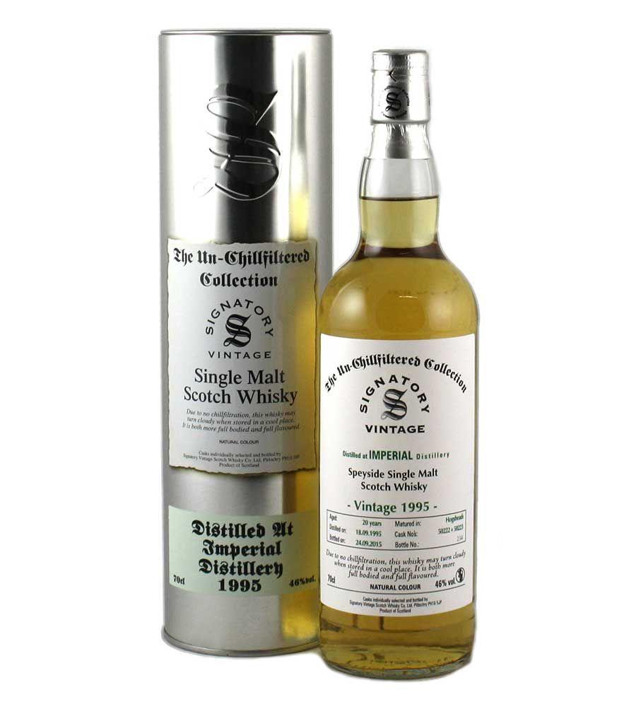 Scotch Signatory Vintage Imperial Speyside Single Malt Scotch 20 Year, Distilled 1995 46% abv 750ml