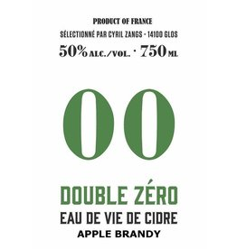 "Brandy Cyril Zangs ""Double Zéro"" Eau de Vie de Cidre Apple Brandy 50% abv 750ml"