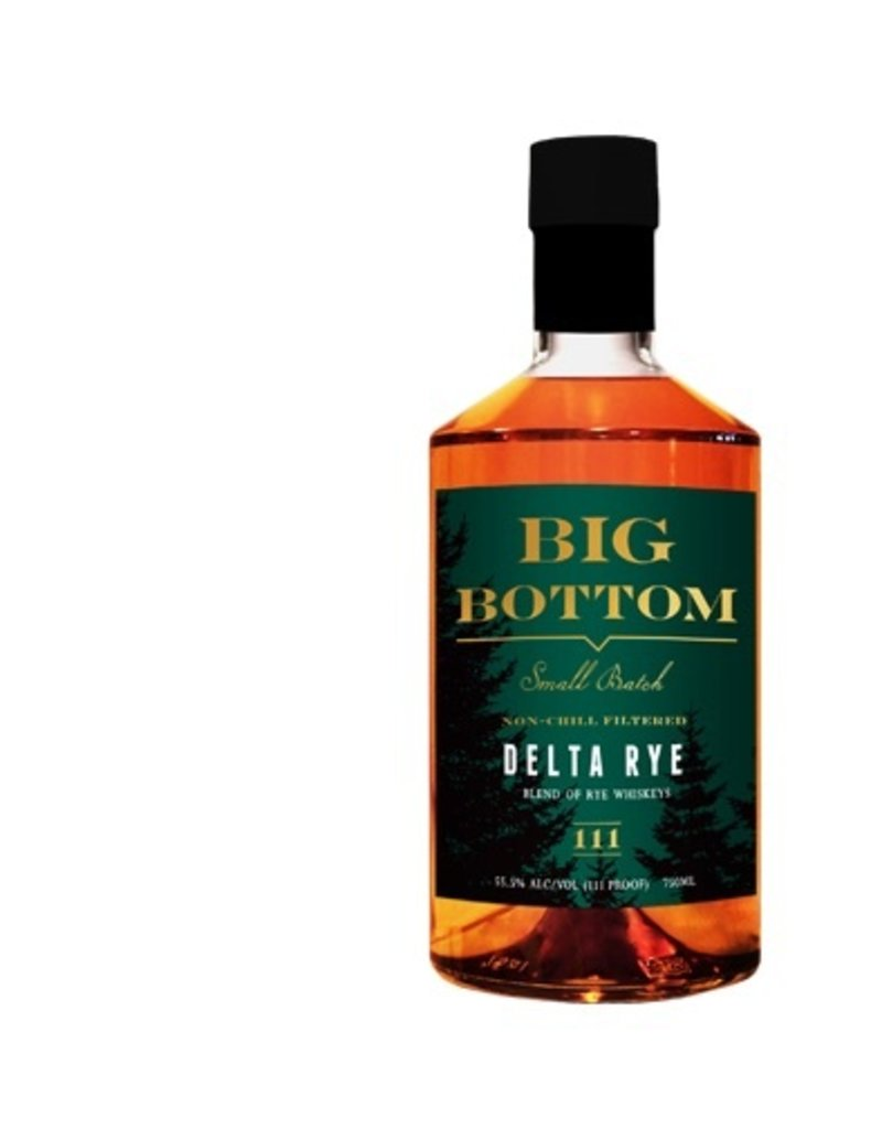 Rye Whiskey Big Bottom Delta Rye 750ml