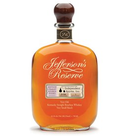 Bourbon Jefferson's Reserve Kentucky Straight Boubon Whiskey bottled exclusively for Independent Spirits, Inc. 750ml