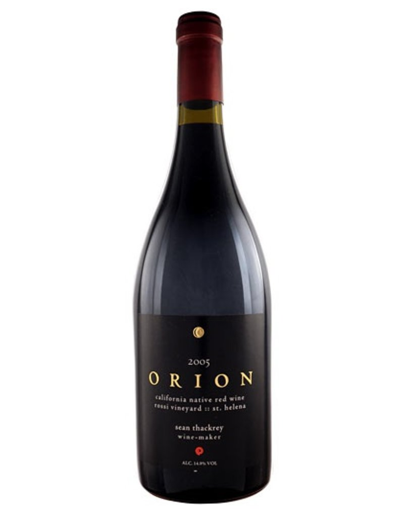 American Wine Sean Thackrey Orion California Native Red Wine Rossi Vineyard St. Helena Napa 750ml 2012