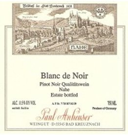 German Wine Paul Anheuser Blanc de Noir Qualitatswein Nahe (Off-Dry) 2014 750ml