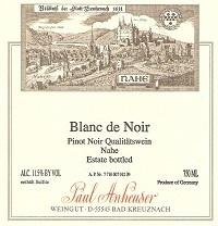 German Wine Paul Anheuser Blanc de Noir Qualitatswein Nahe (Off-Dry) 2015 750ml