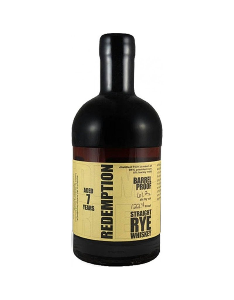 Rye Whiskey Redemption 7yr Straight Rye Whiskey Batch #4 750ml