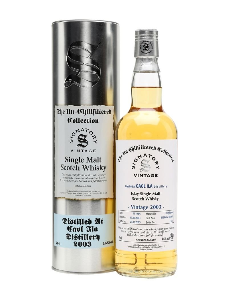 Scotch Signatory Caol Ila 2003 11 Year Un-Chillfiltered Collection Cask No. 302443 46%abv 750ml