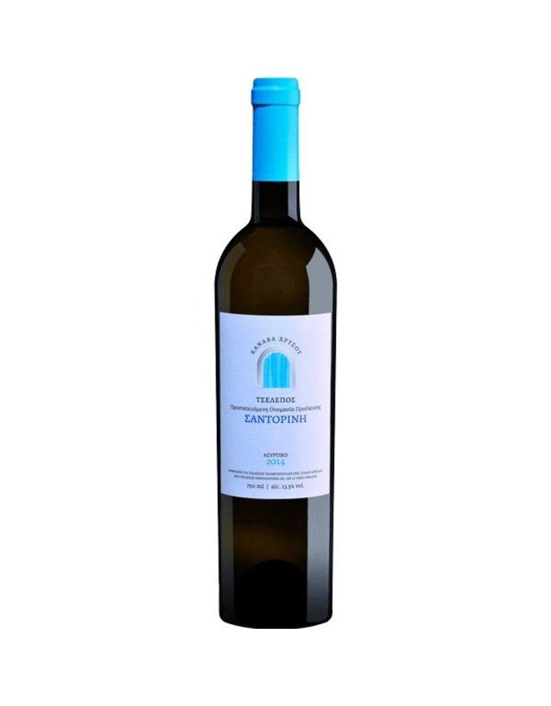 Greek Wine Canava Chrissou Tselepos Santorini Assyrtiko 2015 750ml