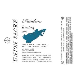 "American Wine Fraulein ""Union Sacre"" Riesling 2015 750ml"