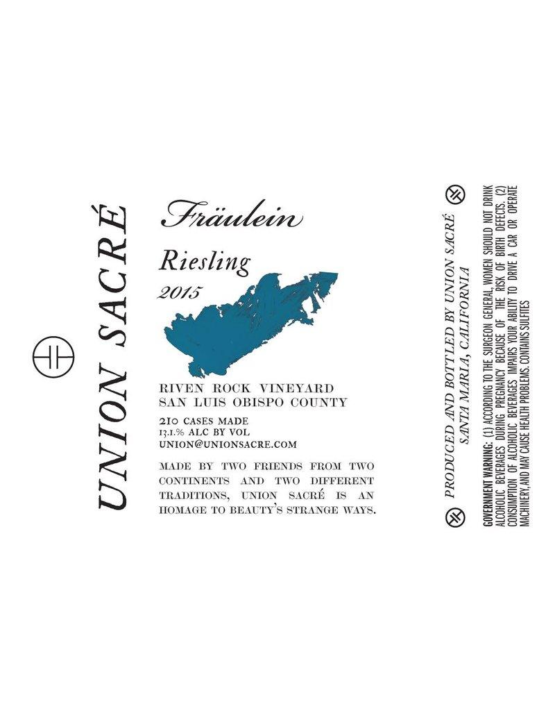 "American Wine Fraulein ""Union Sacre"" Riesling 2015 750ml"