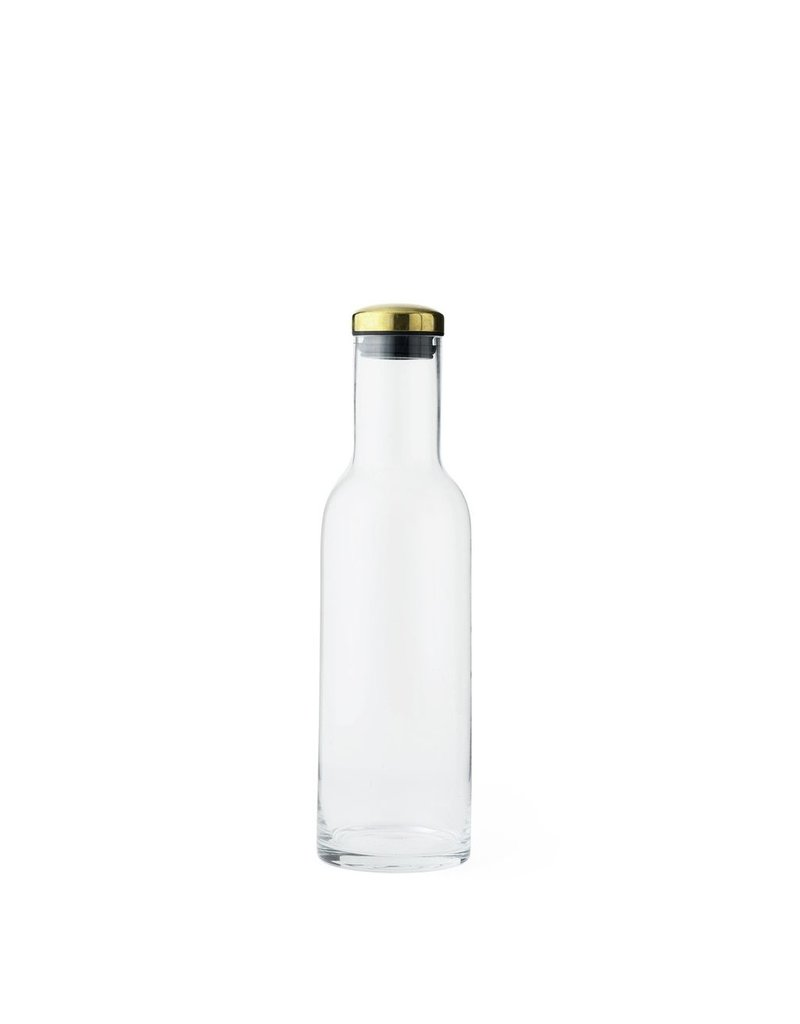 Miscellaneous Menu Bottle Carafe with Brass Lid One Liter