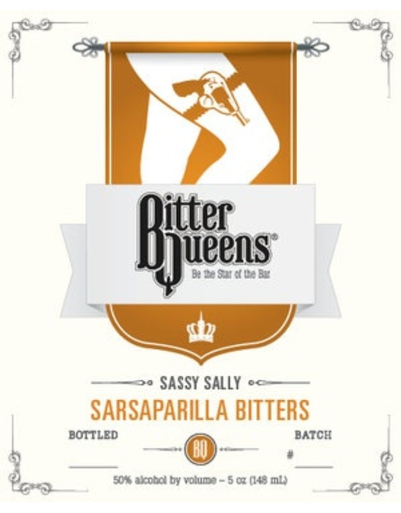 """Bitter Bitter Queens """"Sassy Sally"""" Sasaparilla Bitters 5oz"""
