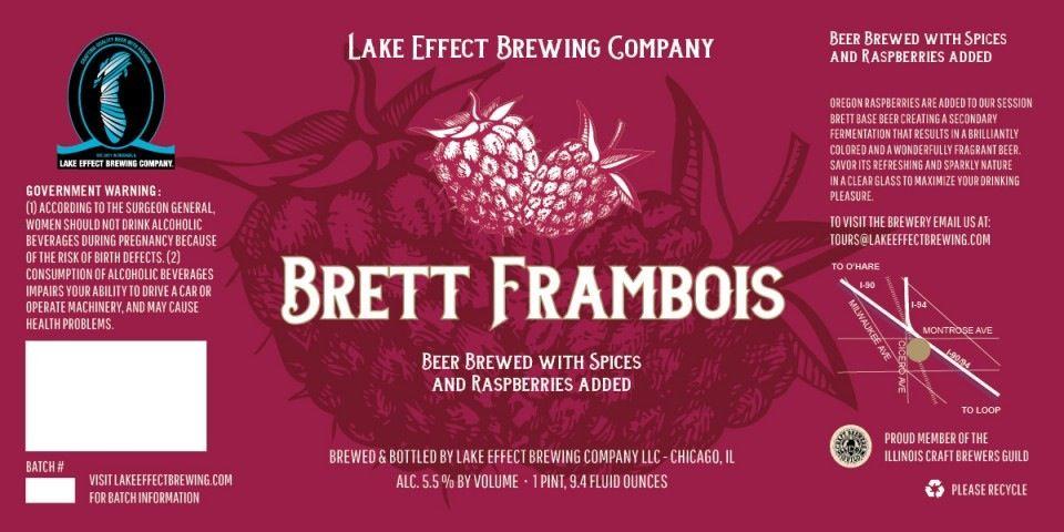 Beer Lake Effect Brett Frambois 750ml