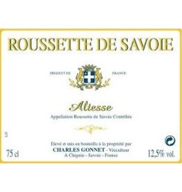 French Wine Charles Gonnet Roussette de Savoie Altesse 2015 750ml