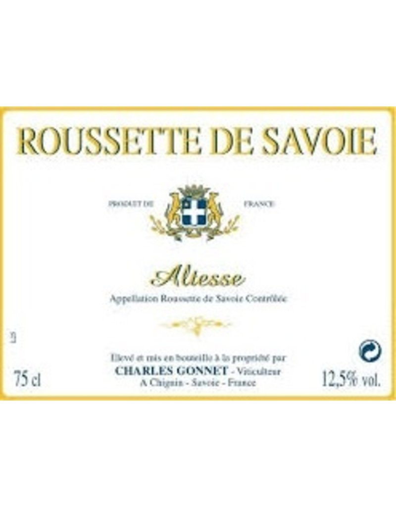 French Wine Charles Gonnet Roussette de Savoie Altesse 2015 750ml
