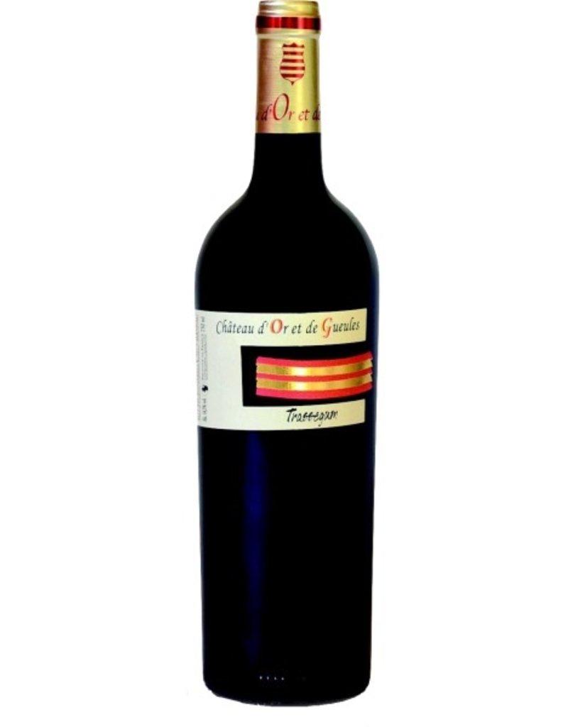 "French Wine Chateau d'Or et de Gueules ""Trassegum"" Costieres de Nimes 2010 750ml"