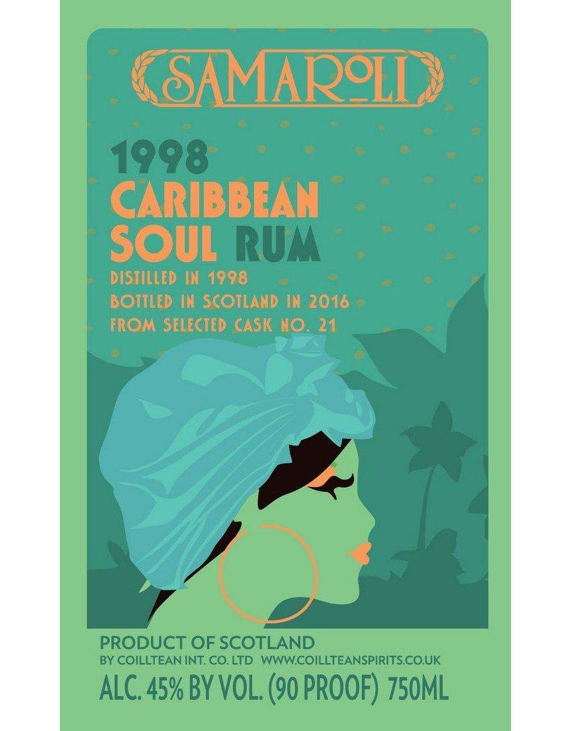 Rum Samaroli Caribbean Soul 1998 Rum, Bottled in 2016 750ml