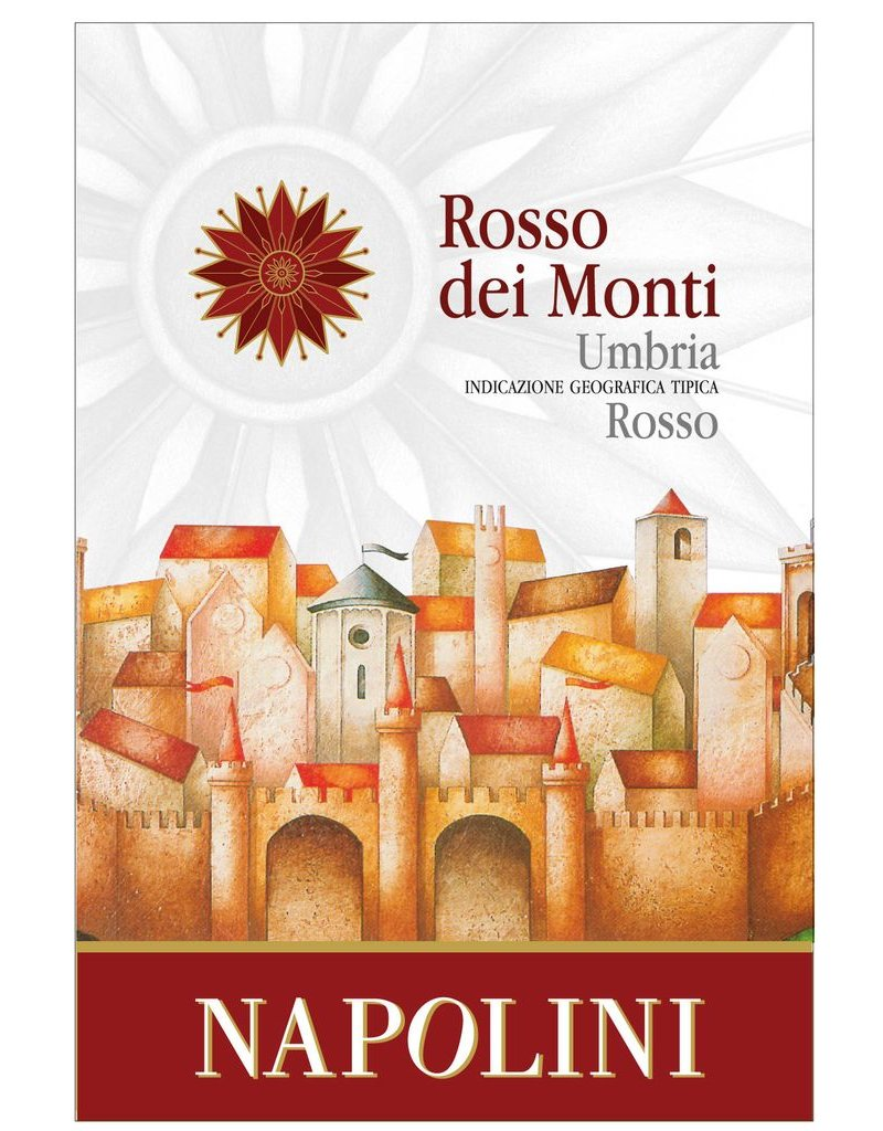 Italian Wine Napolini Rosso Dei Monti Umbria Rosso 2015 750ml
