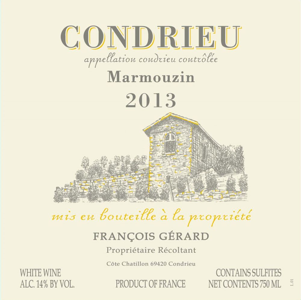 "French Wine Domaine Gerard Condrieu ""Marmouzin"" 2013 750ml"