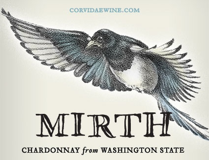 "American Wine Corvidae ""Mirth"" Chardonnay"" Yakima Valley Washington 2016 750ml"
