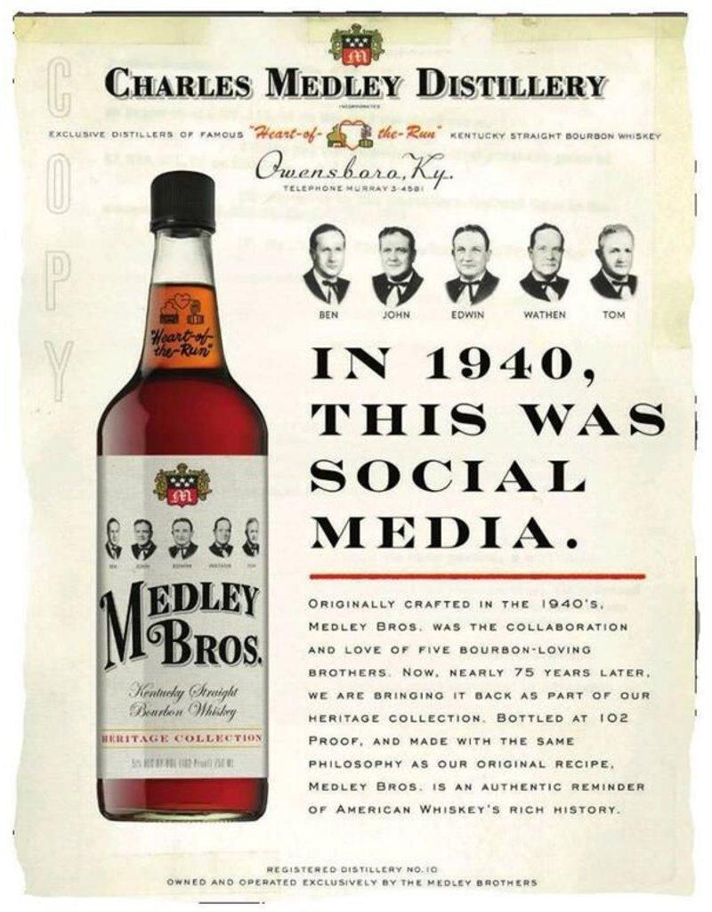 Bourbon Medley Bros Bourbon 750ml