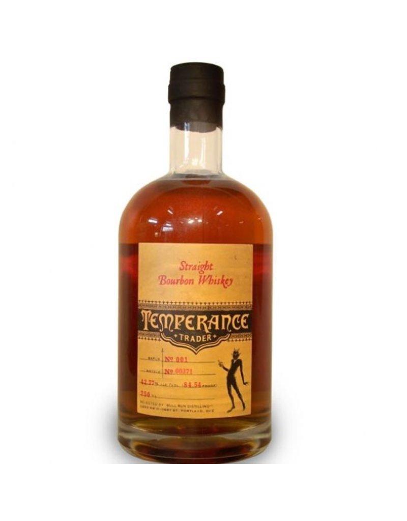 "Bourbon Temperance Trader ""Bull Run"" Straight Bourbon Whiskey 750ml"