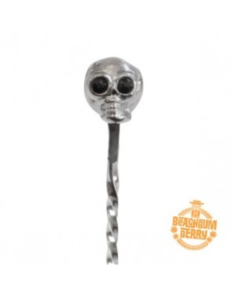 Miscellaneous Beach Bum Berry Skull Barspoon 33cm (Stainless Steel)
