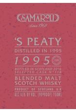 Scotch Samaroli 'S Peaty Distilled in 1995 bottled 2016 from Cask No. 118 120 bottles produced 750ml