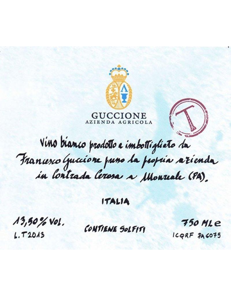 """Italian Wine Guccione """"T"""" Trebbiano Vino Bianco 2014 750ml"""