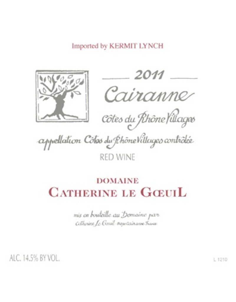 French Wine Catherine Le Goeuil Cairanne Cotes du Rhone 2011 750ml