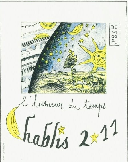"""French Wine De Moor """"L'Humeur du Temps"""" Chablis 2015 750ml"""