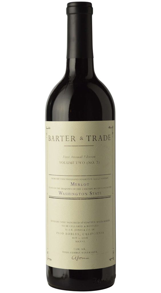 "American Wine Barter & Trade ""Volume Two"" Merlot Red Mountain Washington 2014 750ml"