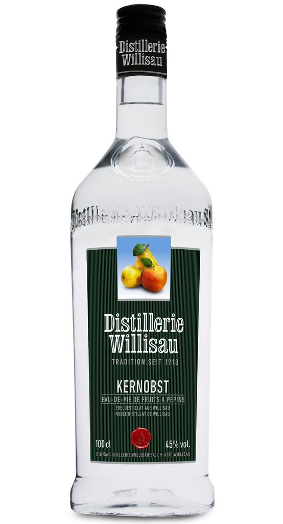 Brandy Willisauer Kernobst Eau-De-Vie Fruits a Pepins (Apple/Pear) Switzerland One Liter