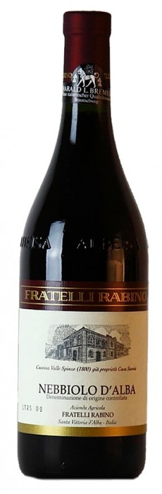 Italian Wine Fratelli Rabino Nebbiolo d'Alba 2014 750ml