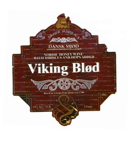 "Mead Dansk Mjod ""Viking Blood"" Nordic Honey Wine with Hibiscus and Hops added 750ml"
