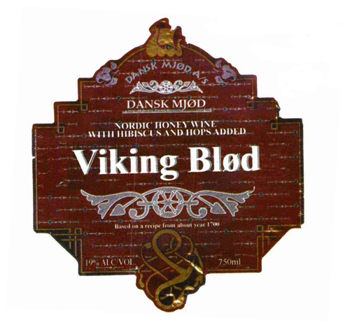 """Mead Dansk Mjod """"Viking Blod"""" Nordic Honey Wine with Hibiscus and Hops added 750ml"""
