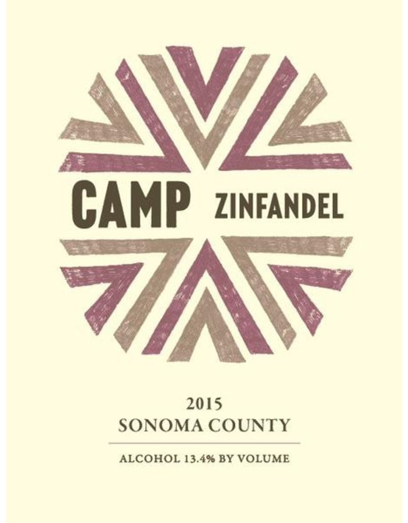 American Wine Camp Zinfandel Sonoma County 2015 750ml