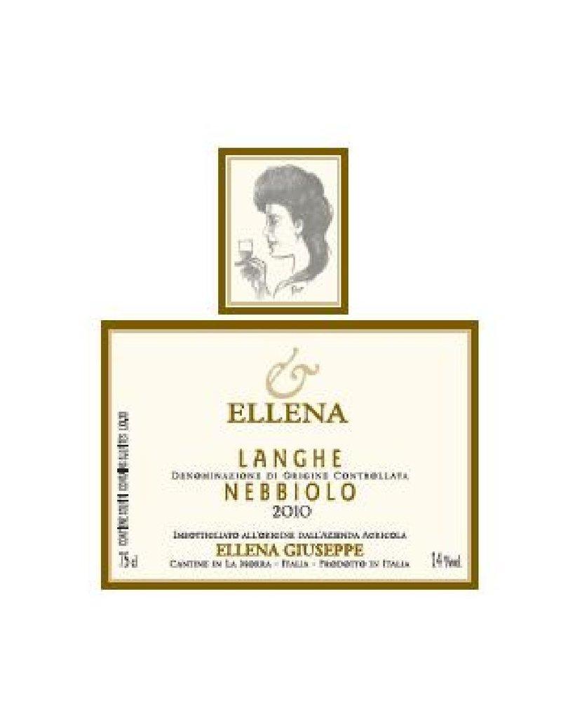 "Italian Wine Ellena Giuseppe ""Ellena"" Lange Nebbiolo 2011 750ml"