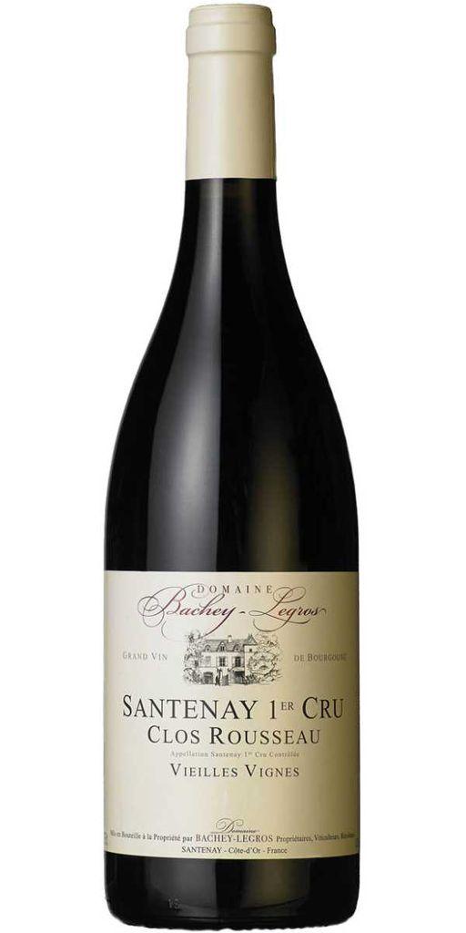 """French Wine Domaine Bachey-Legros Santenay """"Clos Rousseau"""" 1er Cru Vielles Vignes 2014 750ml"""
