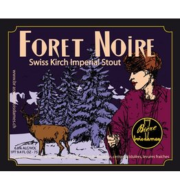 """Beer Brasserie Trois Dames """"Foret Noire"""" Swiss Kirch Imperial Stout 750ml"""