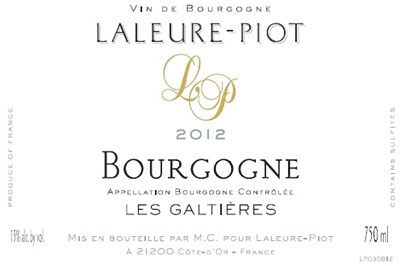 French Wine Domaine Laleure-Piot Bourgogne Les Galtieres 2014 750ml