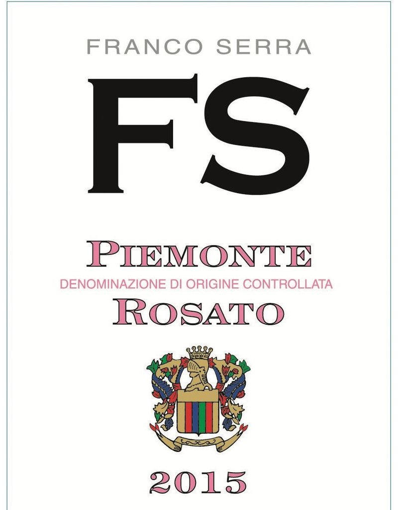 Italian Wine Franco Serra Piemonte Rosato 2016 750ml
