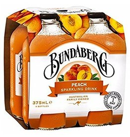 Sweetened Beverage Bundaberg Peach .375ml x 4 pk